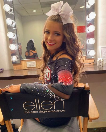 Morgan during the Ellen DeGeneres show
