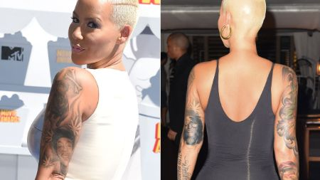 Amber Rose is no stranger to tattoos. Amber Rose Face Tattoo.