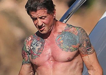 Sylvester Stallone Left Arm Tattoo.