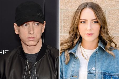 Eminem and his daughter, Hailie Jade Mathers Scott.