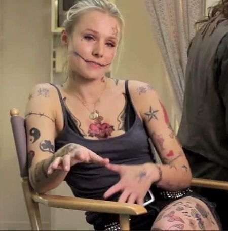 Kristen Bell pulled a hoax video of 214 tattoos in her body