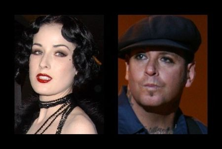 Mike Ness and Dita Von Teese dated for a short time.