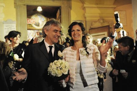 Snippet of Andrea Bocelli and Veronica Berti wedding in 2014.