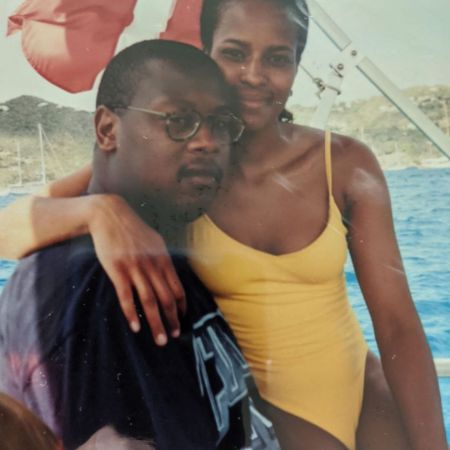 An old picture of Wendy Credle and her ex-lover Andre Harrell.