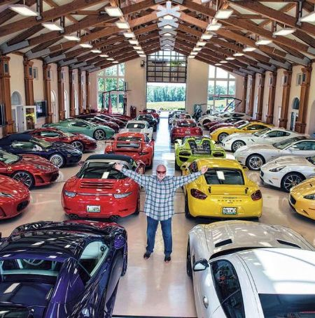 Michael Fux is owns more than 160 elite cars.