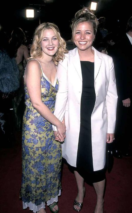 Some early pictures of business partners, Drew Barrymore and Nancy Juvonen.