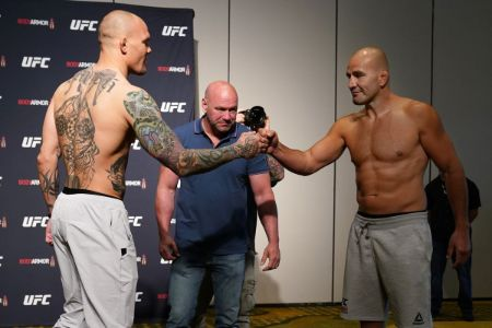Recent UFC fight between Anthony Smith and Glover Teixeira.
