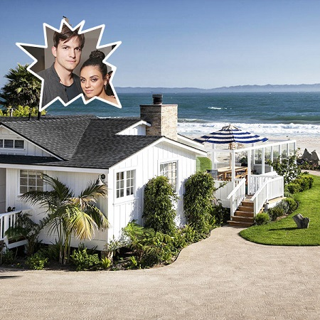 Ashton Kutcher lives next door to the celebrity, Ellen DeGeneres.