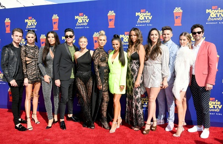 'Vanderpump Rules' cast attend the 2019 MTV Movie and TV Awards at Barker Hangar on June 15, 2019, in Santa Monica, California.