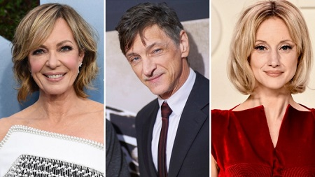 (L-R) Allison Janney, John Hawkes and Andrea Riseborough.