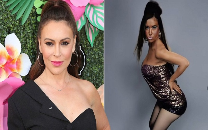 Alyssa Milano Says She's Not Wearing Blackface but Rather Impersonating Snooki with a Spray Tan