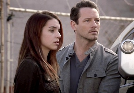 Adelaide Kane and Ian Bohen in an episode of 'Teen Wolf'.