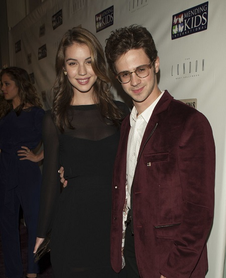 Actors Adelaide Kane and Connor Paolo attend Mending Kids International Celebrity Poker Tournament - Red Carpet at The London Hotel on December 1, 2012, in West Hollywood, California.