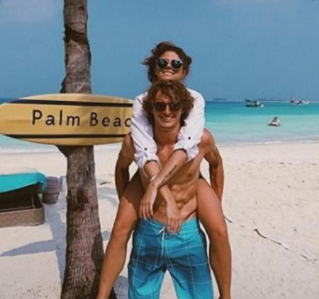 alexander sascha zverev with his ex-girlfriend, Olga Sharipova.