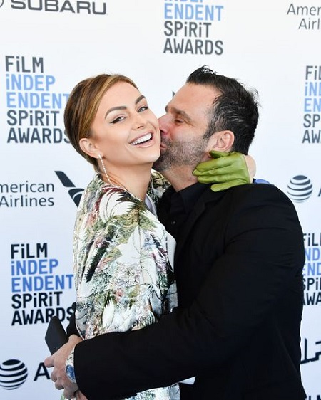 Lala Kent and Randall Emmett attend the 2019 Film Independent Spirit Awards on February 23, 2019, in Santa Monica, California.