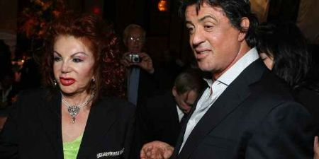 Jackie Stallone With Son Sylvester Stallone