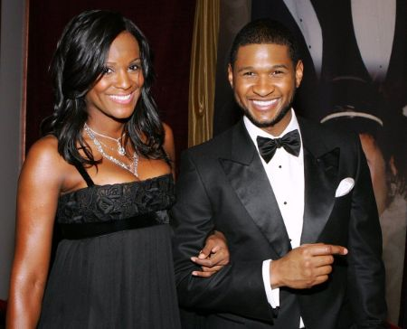 Usher with his ex-wife Temeka Foster