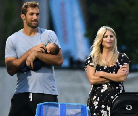 Elin Woods caught on camera with her current partner Jordan Cameron.