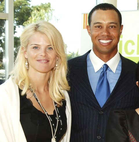Elin Woods caught on camera with ex-husband Tiger Woods.
