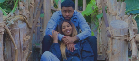 Supa Cent and her new boyfriend Sage The Gemini pose a picture.