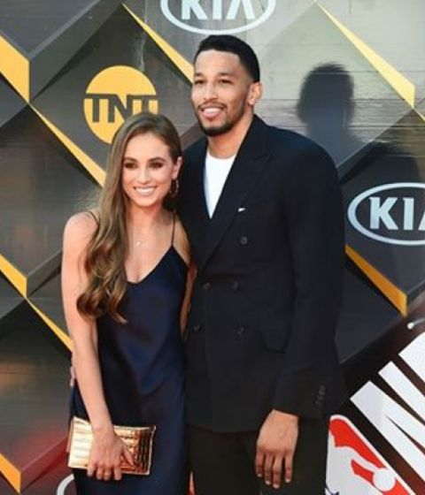Andre Roberson with his partner Rachel Demita