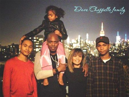 Dave Chappelle and family