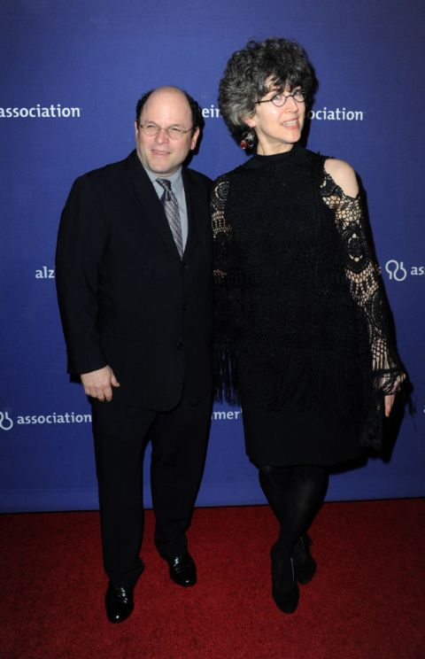 Jason Alexander caught on the camera with his wife Daena E. Title.