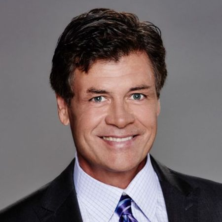 Michael Waltrip in a suit caught on the camera.