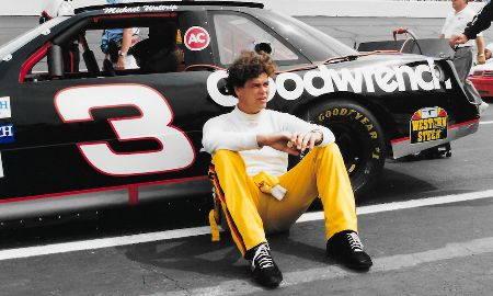 A younger Michael Waltrip caught on the camera.