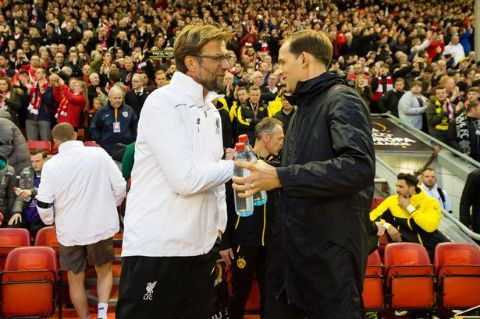 Jurgen Klopp and Thomas Tuchel caught on the camera when they faced the last time.