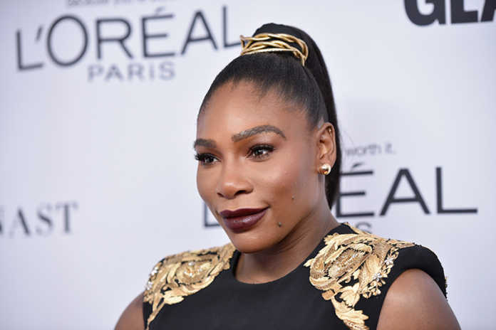 serena posing at an event