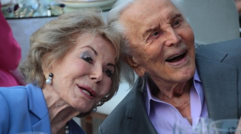 Anne Douglas and Kirk Douglas caught on the camera.