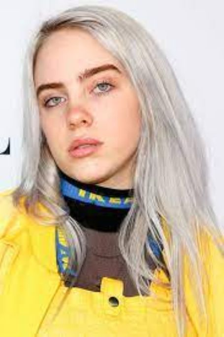 Billie sporting light gray hair color