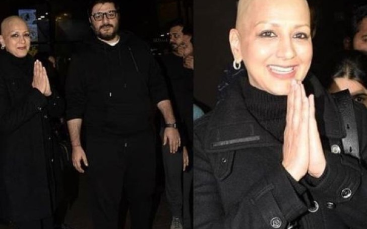 Cancer Fighter Sonali Bendre Returns to Mumbai With her Husband Goldie Behl, Recovering Very Well