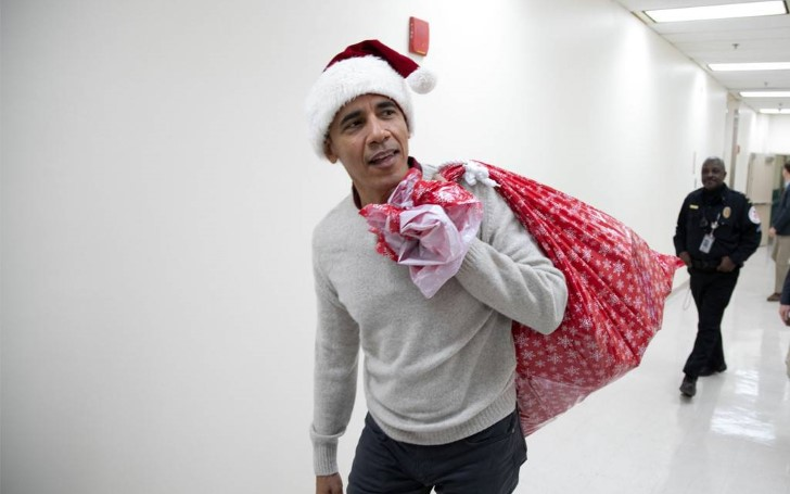Barack Obama Channels His Inner Santa Claus During Visit to Children's Hospital