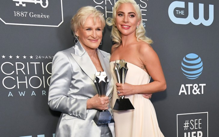Lady Gaga Gets Emotional After Tying for Best Actress with Glenn Close at Critics' Choice Awards
