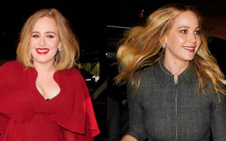 Jennifer Lawrence and Adele Crash NYC Gay Bar and Play Drinking Games