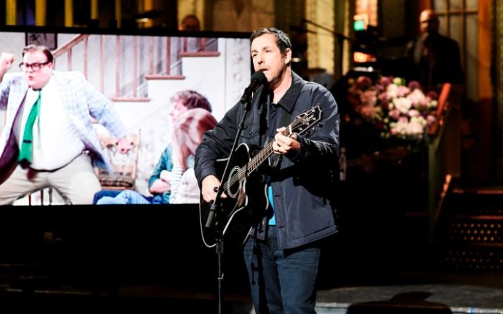 Adam Sandler Tears Up in Touching Song For Chris Farley on Saturday Night Live