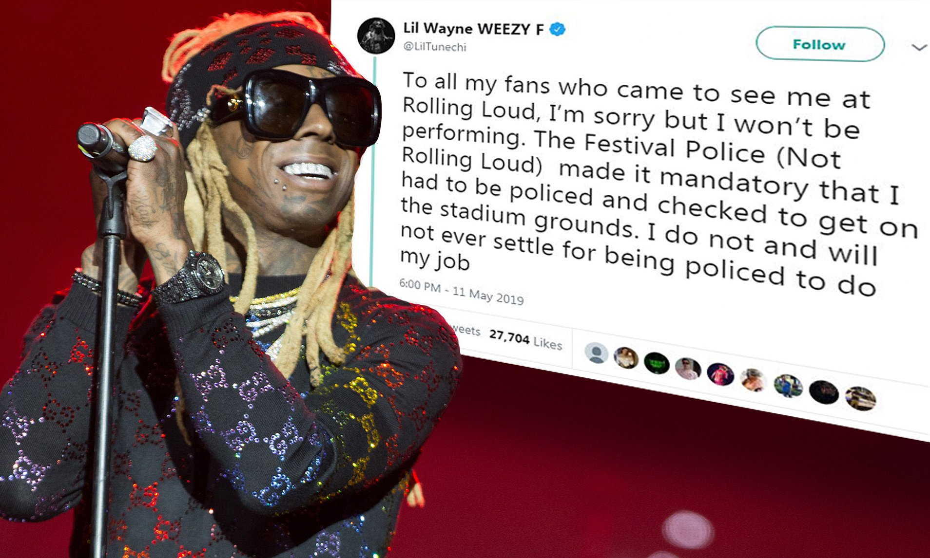 Security Stops Lil Wayne For A 'Mandatory' Search And He Abruptly Cancels His Rolling Loud Performance