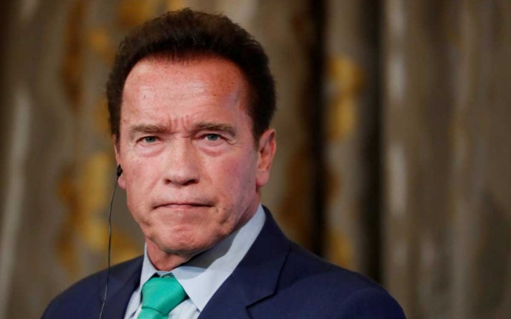 Arnold Schwarzenegger Struck By Flying Kick At Sports Event