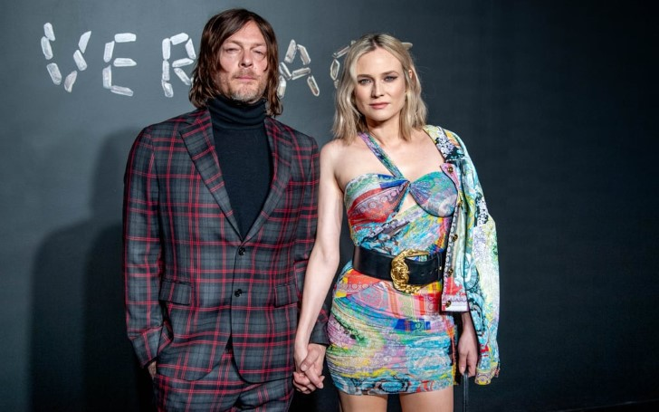 Diane Kruger & Boyfriend Norman Reedus At The Versace Pre-Fall 2019 Show