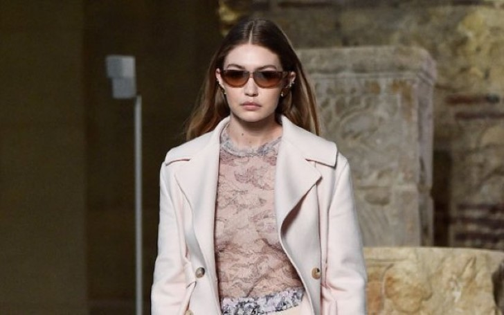 Gigi Hadid Goes Braless on Lanvin Catwalk at Paris Fashion Week