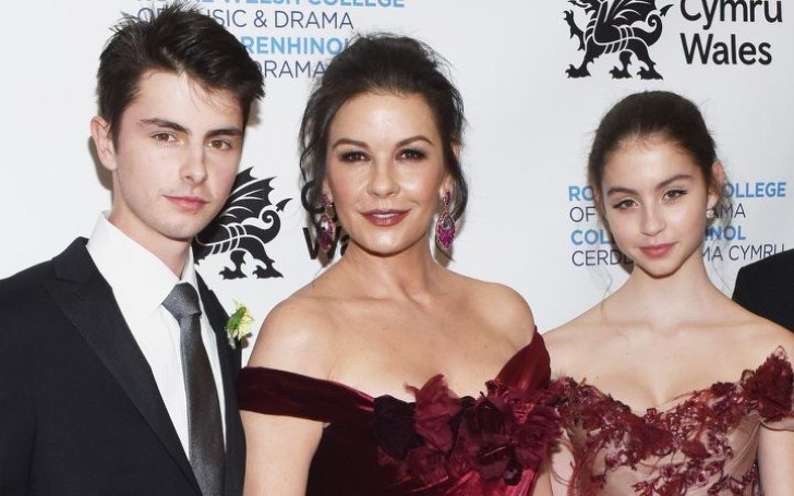 Catherine Zeta-Jones and Her Two Kids Got All Glammed Up at NYC Gala