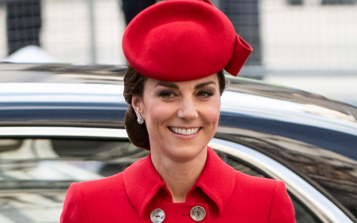 The Duchess of Cambridge Kate Middleton Looked Stunning in a Red Coat Dress at Commonwealth Day