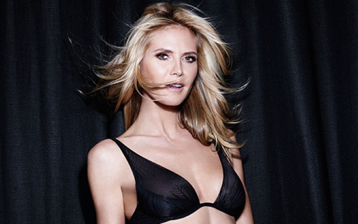 Heidi Klum Displays Her Toned Abs In Lacy Bra While Modeling Expensive Diamonds