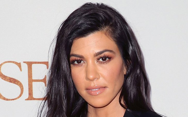 Kourtney Kardashian Heated The Social Media In Golden Bikini