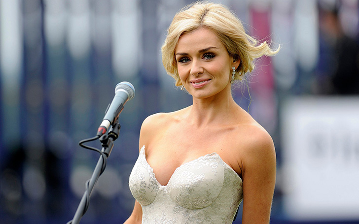 Katherine Jenkins Opted For A Strapless Red Gown  For Her Performance At The Symphony Hall in Birmingham