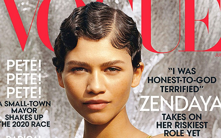 Zendaya Looks Stunning In Plunging Sequin Gold Dress On 'VOGUE' Cover