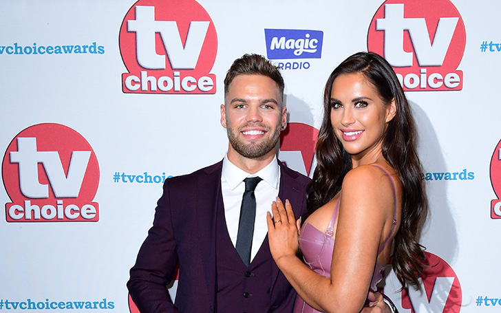 Love Island Star Jess Shears Covers Her Baby Bump In Tuxedo Dress