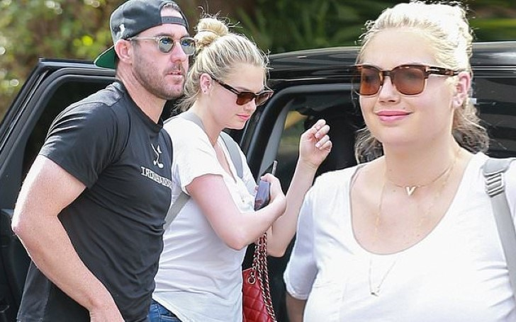 Kate Upton Displays Post-Baby Body In Skinny Jeans with Husband Justin Verlander In Beverly Hills